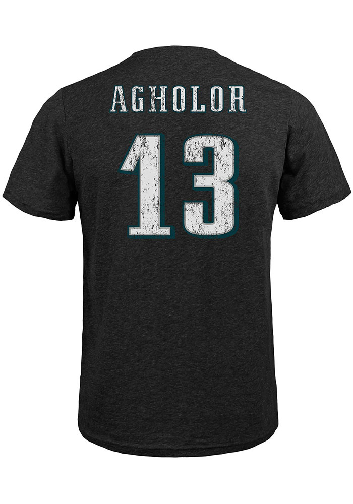 Nelson Agholor Philadelphia Eagles Black Name & Number Short Sleeve Fashion Player T Shirt - Image 1
