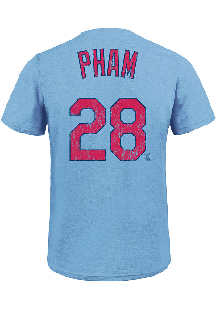Tommy Pham St Louis Cardinals Light Blue Name & Number Short Sleeve Fashion Player T Shirt - Image 1