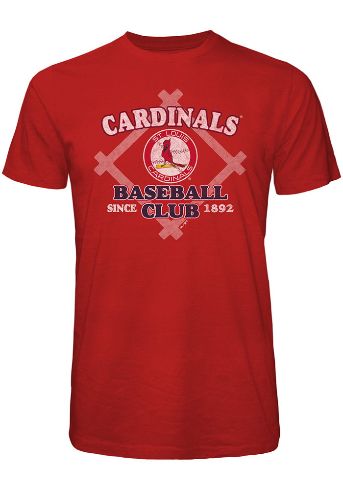 St Louis Cardinals Red Bases Loaded Short Sleeve Fashion T Shirt - Image 1