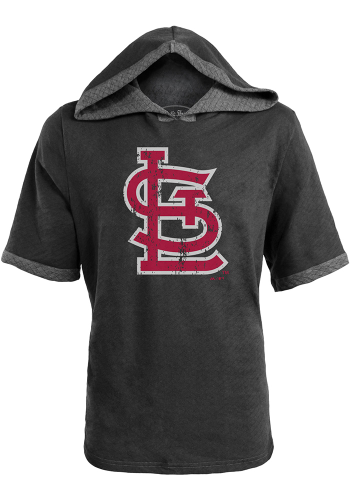 St Louis Cardinals Mens Black Cap Fashion Hood - Image 1