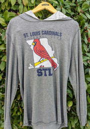 St Louis Cardinals State Sport Fashion Hood - Charcoal