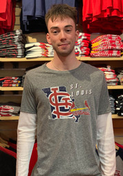 St Louis Cardinals State Of Mind Fashion T Shirt - Grey