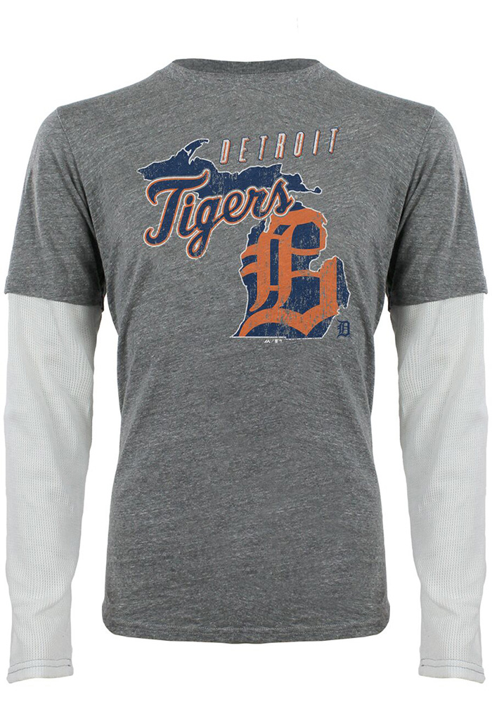 Detroit Tigers Grey State of Mind Fashion Tee