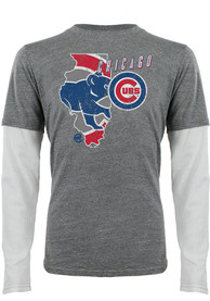 Chicago Cubs Grey State of Mind Fashion Tee