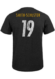 JuJu Smith-Schuster Pittsburgh Steelers Black Name and Number Fashion Tee