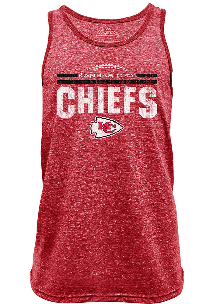 4d647a7b Kansas City Chiefs Mens Red Laces Out NFL Red Short Sleeve Tank Top