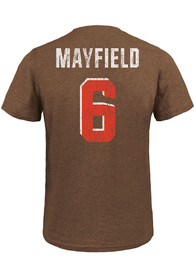 42a65e87 Baker Mayfield Cleveland Browns Brown Name & Number Fashion Player Tee