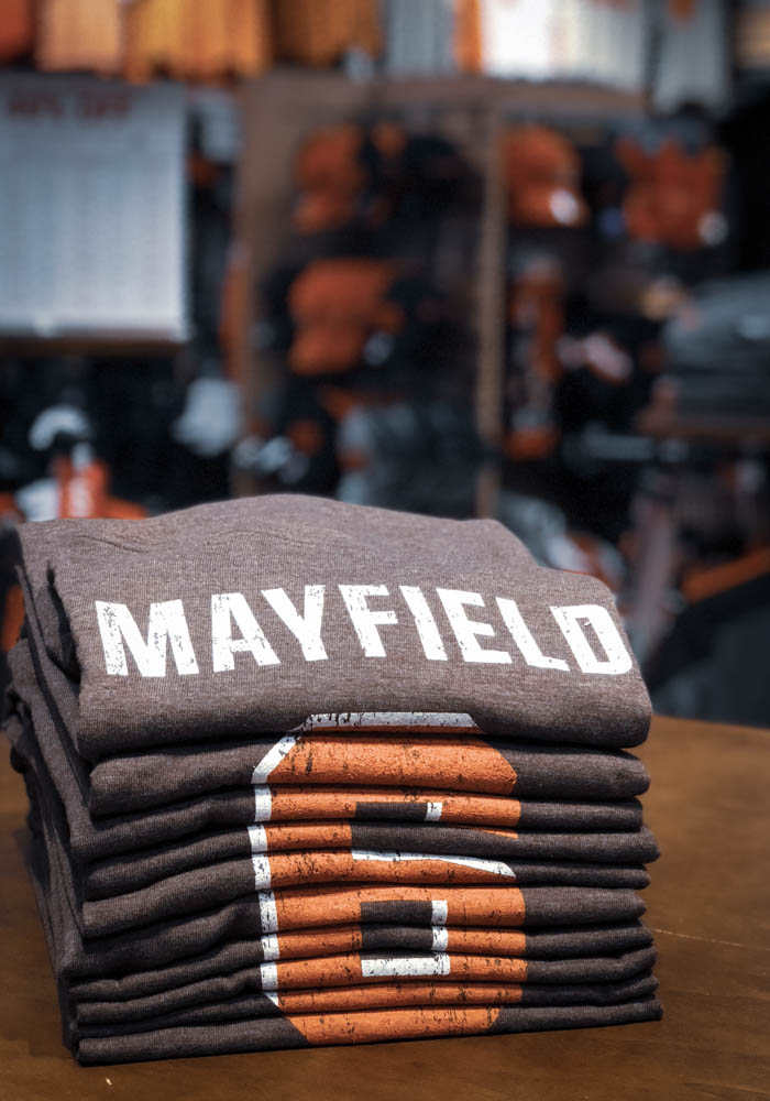 Baker Mayfield Cleveland Browns Brown Name & Number Short Sleeve Fashion Player T Shirt - Image 3