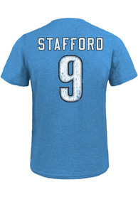 Matthew Stafford Detroit Lions Light Blue Name Number Fashion Player Tee