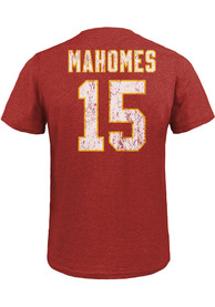 Patrick Mahomes Kansas City Chiefs Majestic Threads Name And Number T-Shirt - Red