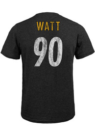 TJ Watt Pittsburgh Steelers Majestic Threads Name And Number T-Shirt - Black