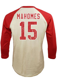 Patrick Mahomes Kansas City Chiefs Majestic Threads Name And Number Raglan Long Sleeve T-Shirt - White