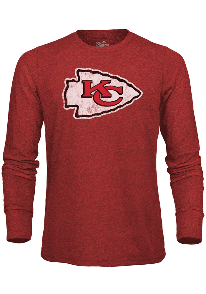 Kansas City Chiefs Red Primary Logo Long Sleeve Fashion T Shirt - Image 1