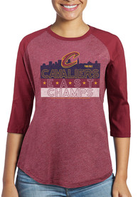 Cleveland Cavaliers Womens Hometown Champs Maroon LS Tee
