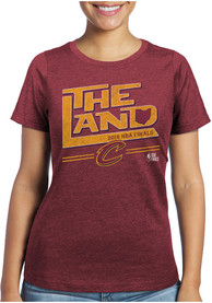 Cleveland Cavaliers Womens Maroon The Hustle T-Shirt