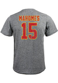 Patrick Mahomes Kansas City Chiefs Majestic Threads Name and Number T-Shirt - Grey
