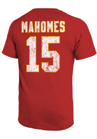 Patrick Mahomes Kansas City Chiefs Majestic Threads Primary Name And Number T-Shirt - Red