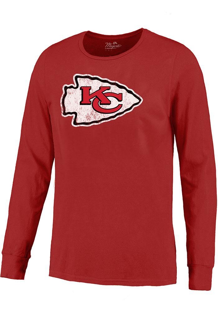 Patrick Mahomes Kansas City Chiefs Red Primary N&N Long Sleeve Player T Shirt - Image 2