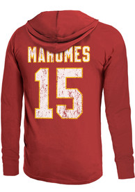 Patrick Mahomes Kansas City Chiefs Majestic Threads Primary Name And Number Long Sleeve T-Shirt - Red