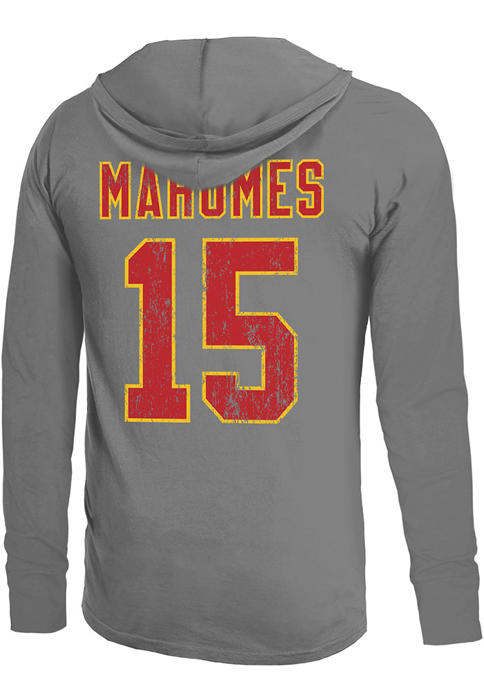 Patrick Mahomes Kansas City Chiefs Mens Grey Primary N&N Player Hood - Image 1