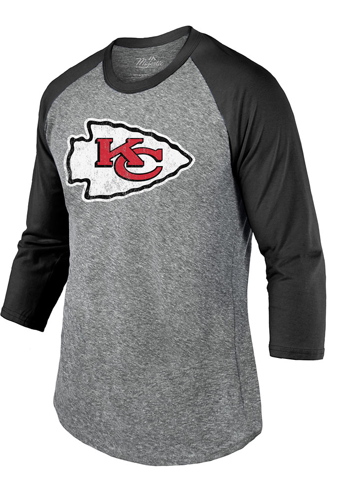 Travis Kelce Kansas City Chiefs Grey Primary Name And Number Long Sleeve Player T Shirt - Image 2