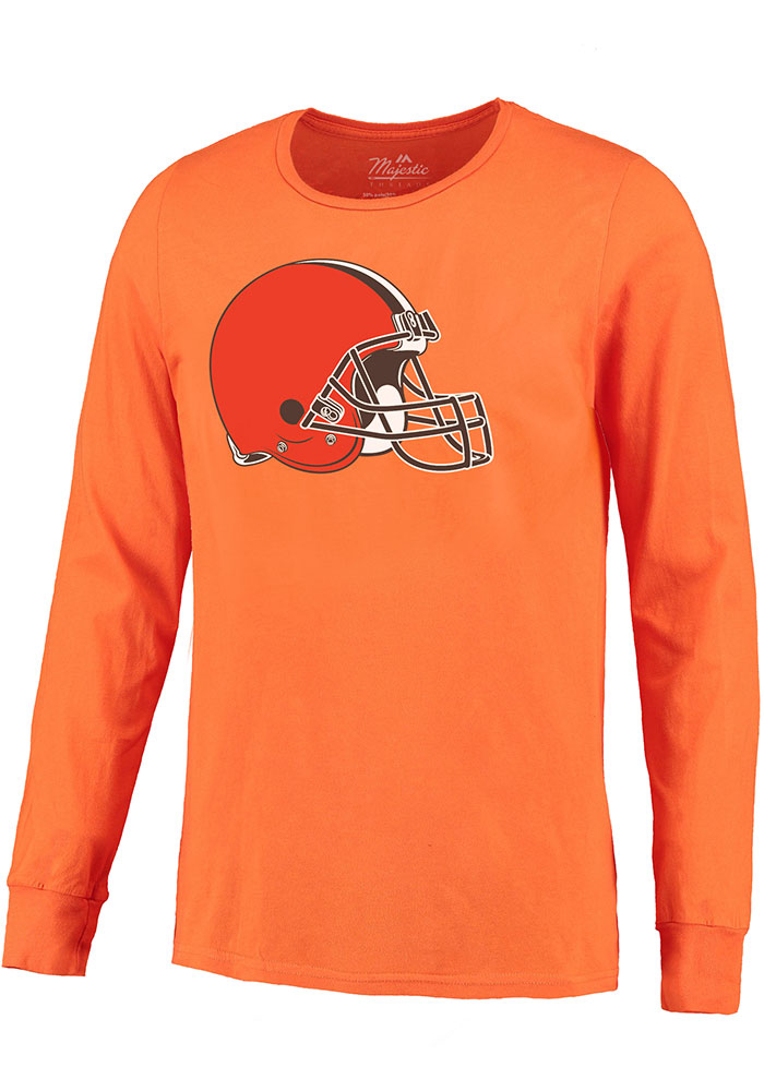 Baker Mayfield Cleveland Browns Orange Primary N&N Long Sleeve Player T Shirt - Image 2