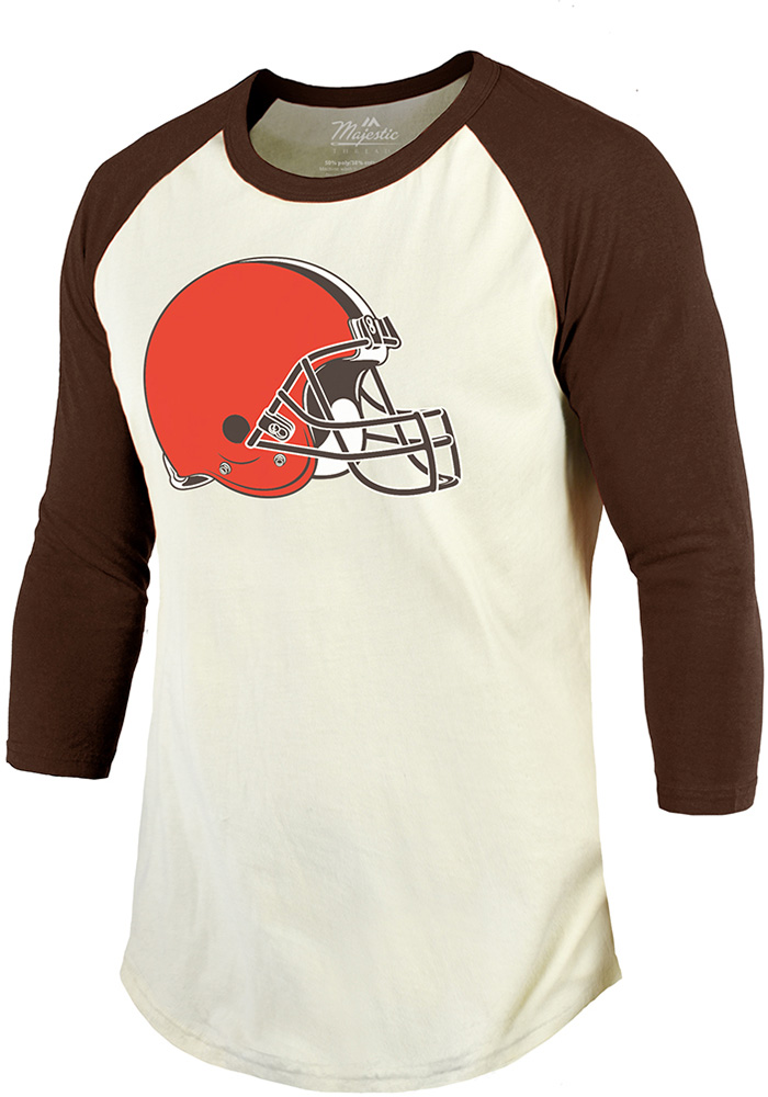 Denzel Ward Cleveland Browns Brown Primary N&N Long Sleeve Player T Shirt - Image 2