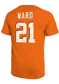 Denzel Ward Cleveland Browns Majestic Threads Primary Name And Number T-Shirt - Orange