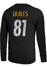 Jesse James Pittsburgh Steelers Majestic Threads Primary N N Long Sleeve T-Shirt - Black