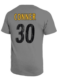 James Conner Pittsburgh Steelers Majestic Threads Primary Name And Number T-Shirt - Grey