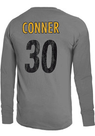 James Conner Pittsburgh Steelers Majestic Threads Primary Name And Number Long Sleeve T-Shirt - Grey