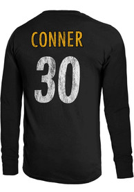 James Conner Pittsburgh Steelers Majestic Threads Primary Name And Number Long Sleeve T-Shirt - Black