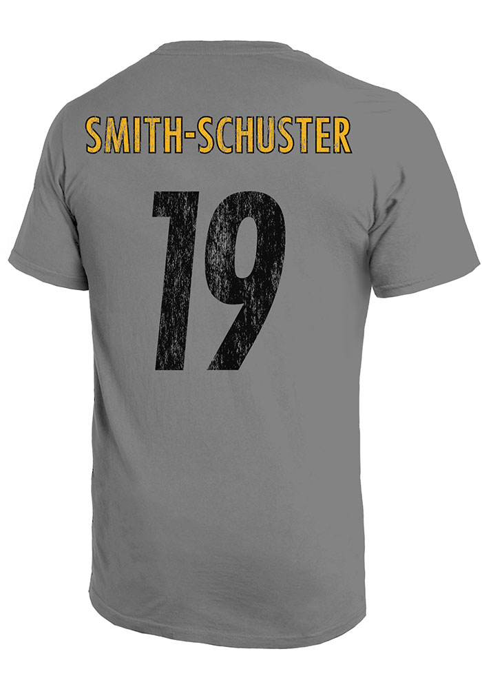 JuJu Smith-Schuster Pittsburgh Steelers Grey Primary N&N Short Sleeve Fashion Player T Shirt - Image 1