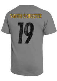 JuJu Smith-Schuster Pittsburgh Steelers Majestic Threads Primary Name And Number T-Shirt - Grey