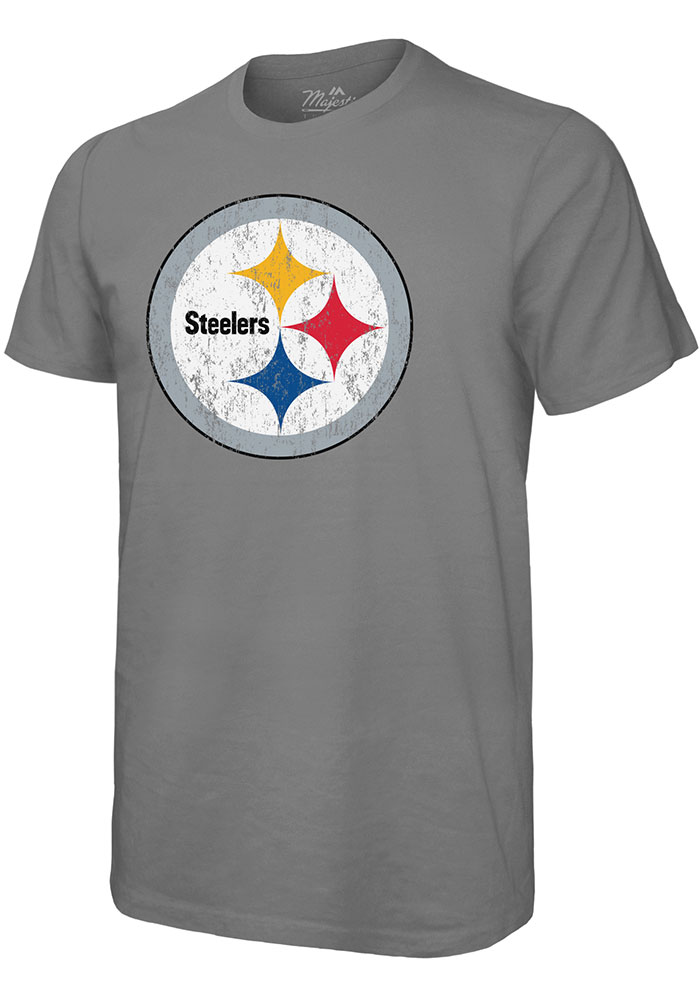 JuJu Smith-Schuster Pittsburgh Steelers Grey Primary N&N Short Sleeve Fashion Player T Shirt - Image 2