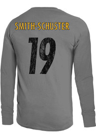 96f88054056 JuJu Smith-Schuster Pittsburgh Steelers Grey Primary N N Long Sleeve Player  T Shirt