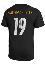 JuJu Smith-Schuster Pittsburgh Steelers Majestic Threads Primary Name And Number T-Shirt - Black