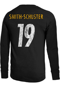 JuJu Smith-Schuster Pittsburgh Steelers Majestic Threads Primary Name And Number Long Sleeve T-Shirt - Black