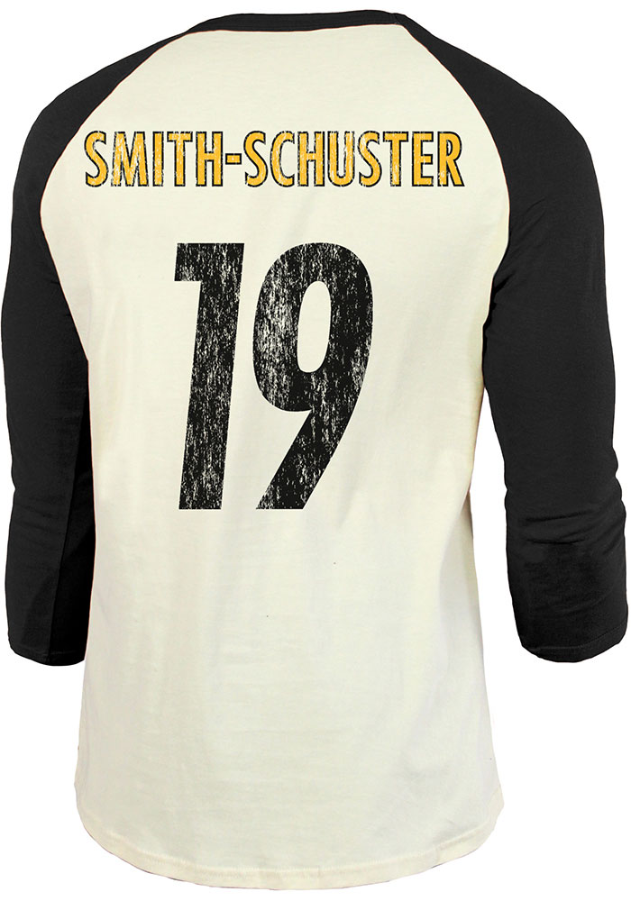 JuJu Smith-Schuster Pittsburgh Steelers Black Primary N&N Long Sleeve Player T Shirt - Image 1