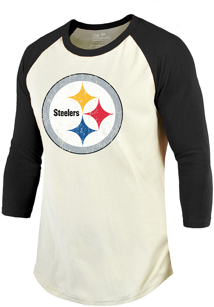 JuJu Smith-Schuster Pittsburgh Steelers Black Primary N&N Long Sleeve Player T Shirt - Image 2