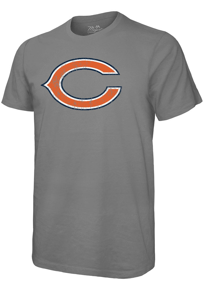 Khalil Mack Chicago Bears Grey Primary N&N Short Sleeve Fashion Player T Shirt - Image 2