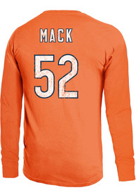 Khalil Mack Chicago Bears Majestic Threads Primary Name And Number Long Sleeve T-Shirt - Orange