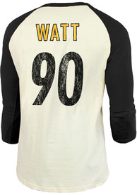 TJ Watt Pittsburgh Steelers Majestic Threads Primary Name And Number Long Sleeve T-Shirt - Black