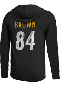 Antonio Brown Pittsburgh Steelers Majestic Threads Primary N N Long Sleeve T-Shirt - Black