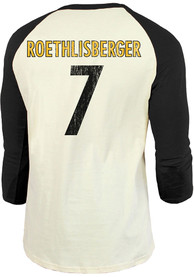 Ben Roethlisberger Pittsburgh Steelers Majestic Threads Primary Name And Number Long Sleeve T-Shirt - Black