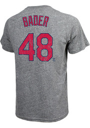 Harrison Bader St Louis Cardinals Majestic Threads Road Player T-Shirt - Grey
