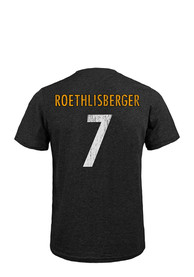 Ben Roethlisberger Pittsburgh Steelers Black Player Fashion Player Tee