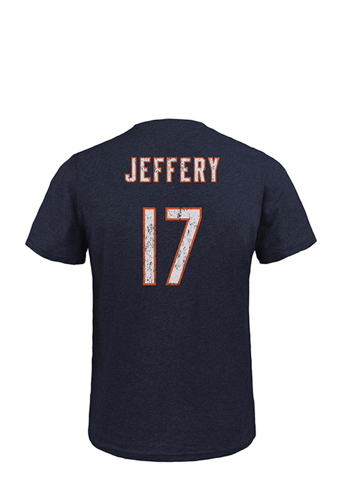 Alshon Jeffery Chicago Bears Mens Navy Blue Player Short Sleeve Fashion Player T Shirt - Image 1