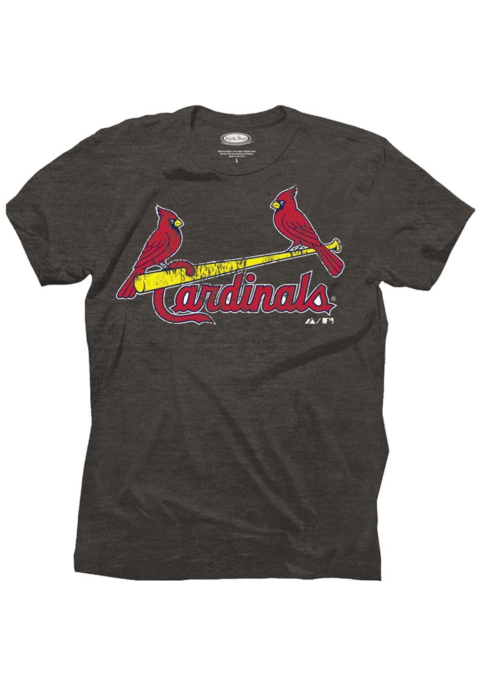 Yadier Molina St. Louis Cardinals Gray Tri-Blend Name And Number Fashion Player Tee - Image 2
