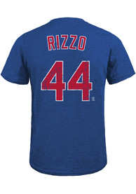 Anthony Rizzo Chicago Cubs Majestic Threads Name And Number T-Shirt - Blue